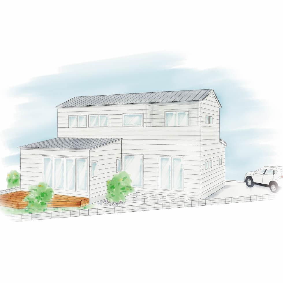 上長の二世帯住宅|株式会社Kibaco