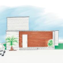 中庭のある家|つくば市の新築木の家|株式会社Kibaco