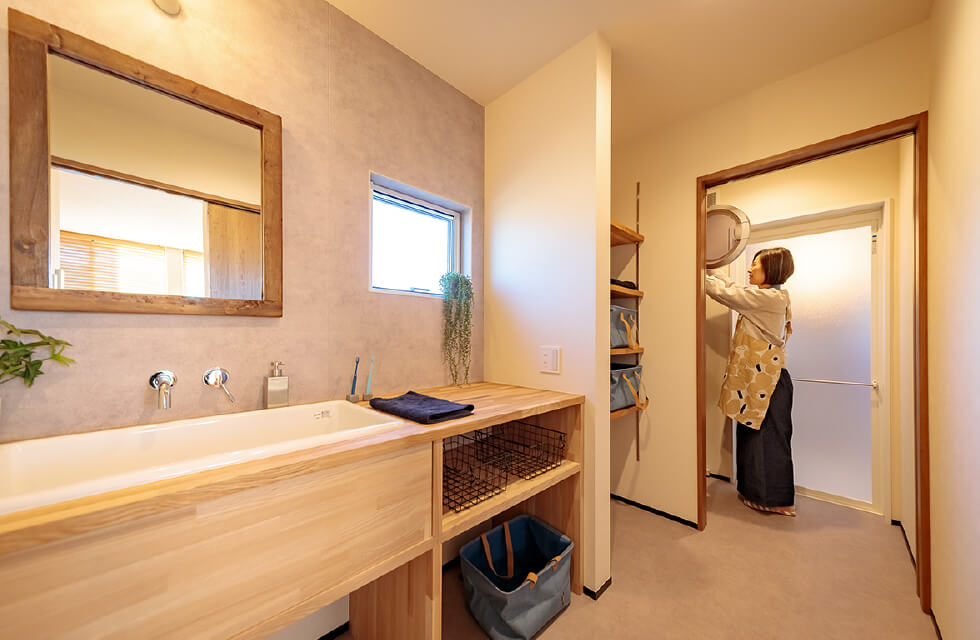 Washroom & Toilet|並木の家【完成見学会】|株式会社Kibaco