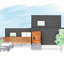 Simple Black|つくば市の新築木の家|株式会社Kibaco