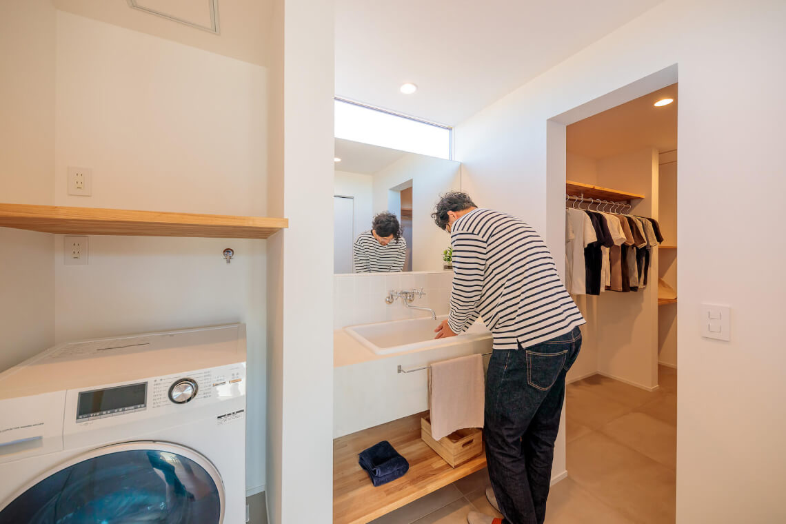 百家の平屋|洗面室|特集|株式会社Kibaco