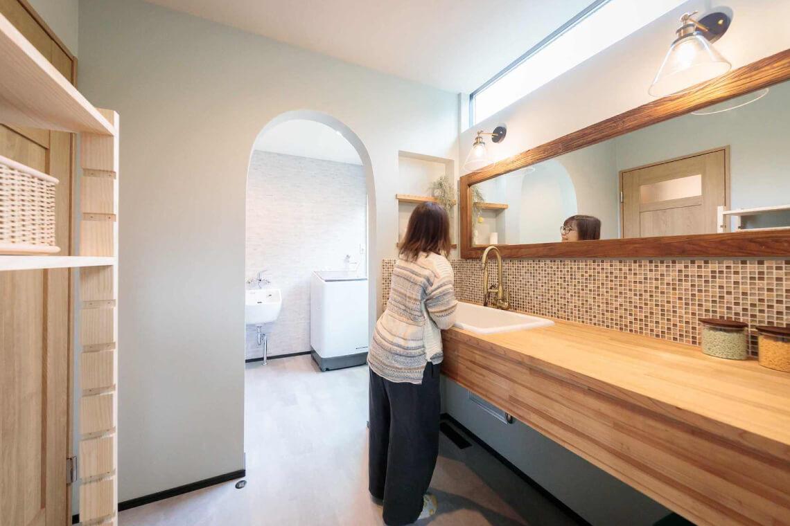 鎌庭の家|洗面室|特集|株式会社Kibaco