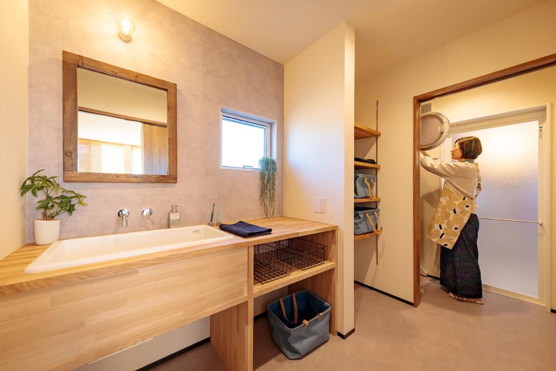並木の家|洗面室|特集|株式会社Kibaco