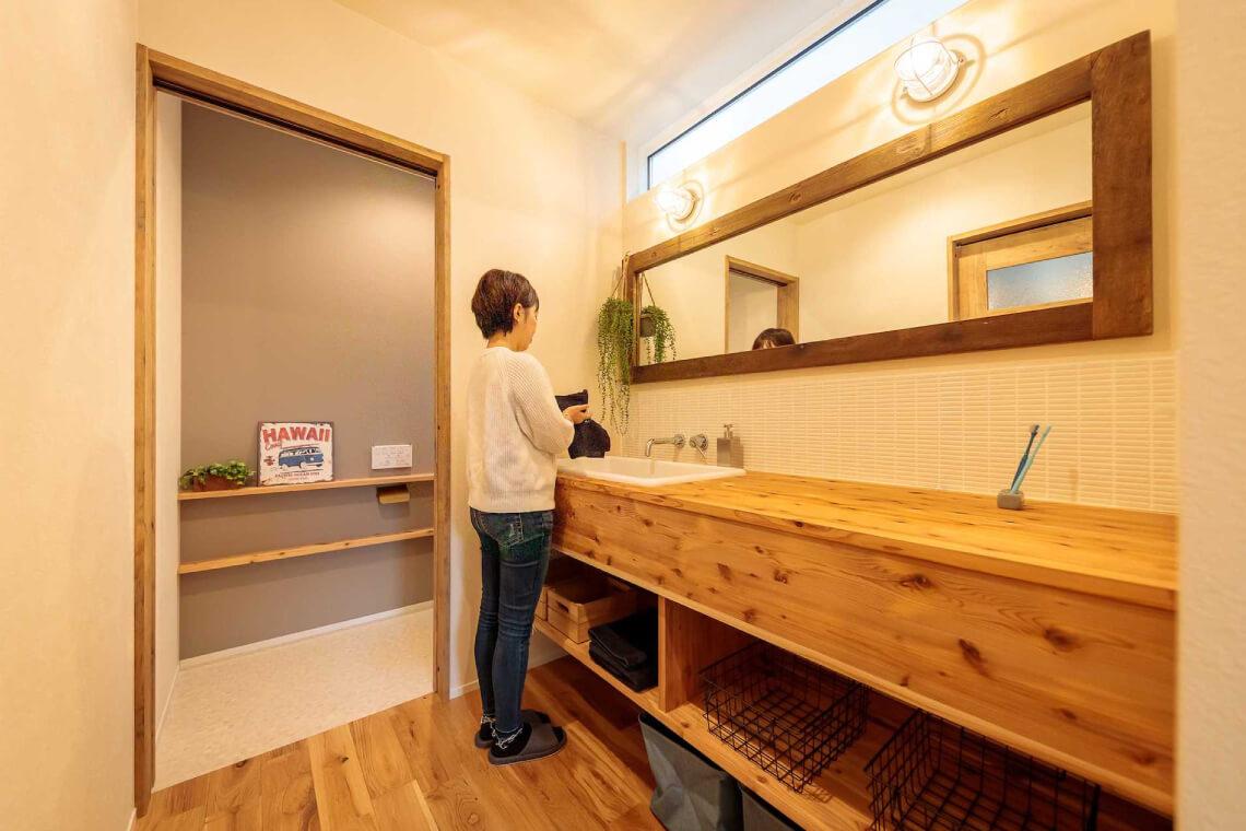 桜が丘の家|洗面室|特集|株式会社Kibaco