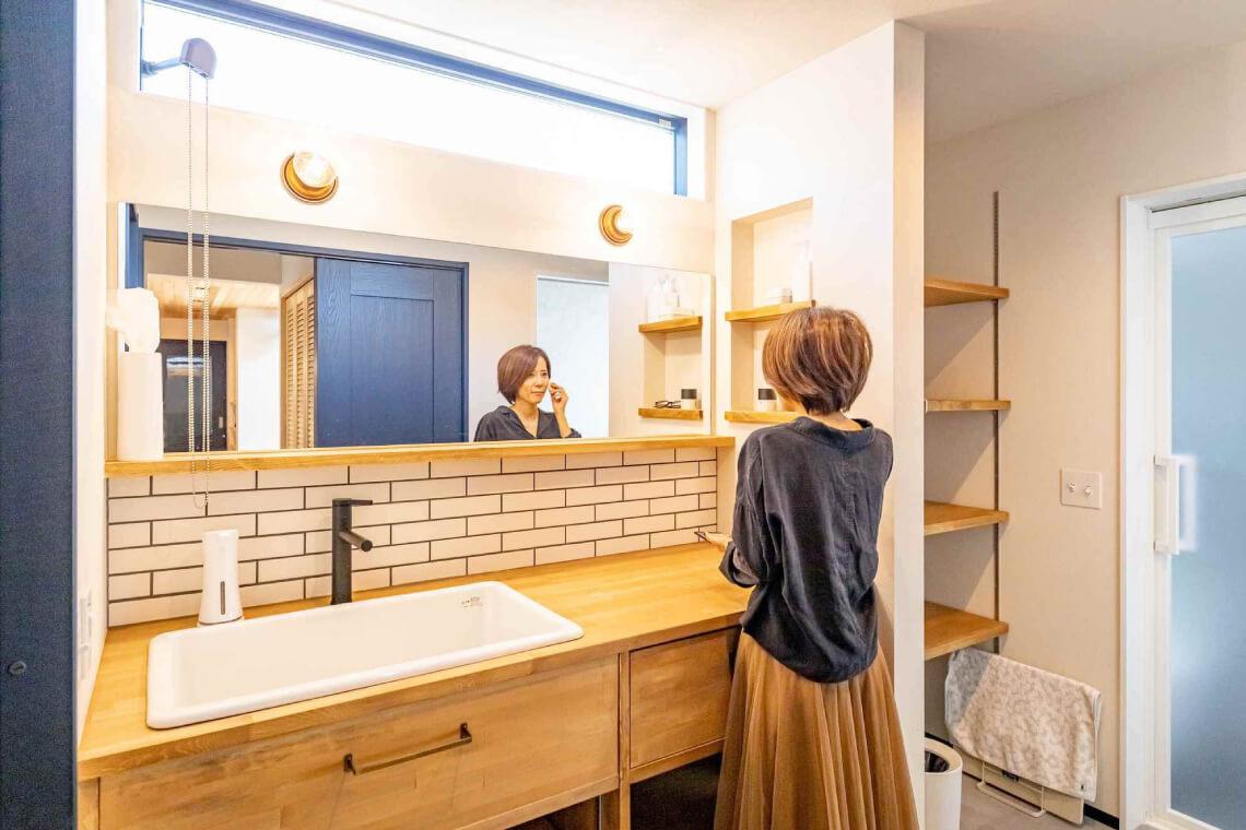 沢目の家|洗面室|特集|株式会社Kibaco