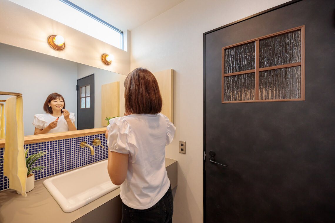 SHIROSATO BASE|洗面室|特集|株式会社Kibaco